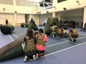 combat skirmish laser tag in event halls