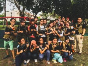 class outing with combat skirmish