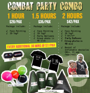 laser tag party packages